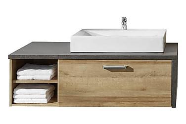 Terra Tvättställsskåp m Handfat 123 cm