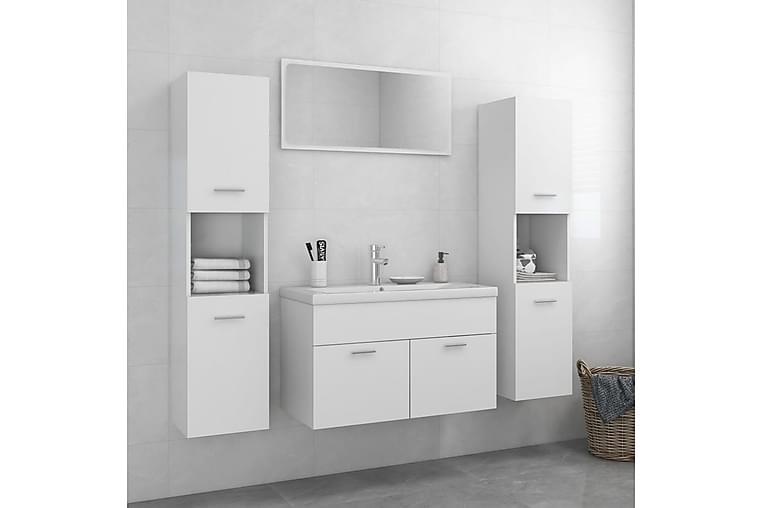 Badrumsmöbler vit spånskiva - Badrum - Badrumsmöbler - Kompletta möbelpaket