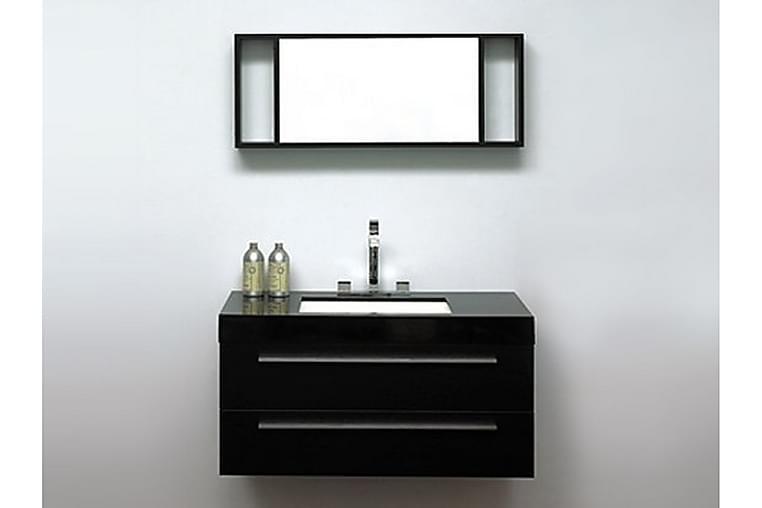Barcelona Badrumsmöbler 47|100 cm - Svart - Badrum - Badrumsmöbler - Tvättställsskåp & kommod