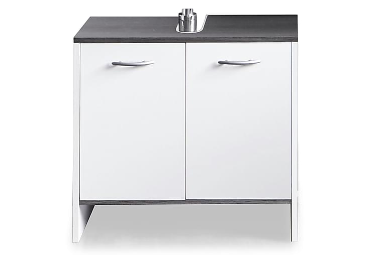 Merice Tvättställsskåp 60 cm 2 Dörrar - Vit/Silvergrå - Badrum - Badrumsmöbler - Tvättställsskåp & kommod