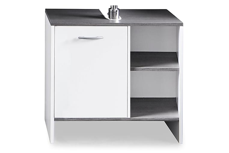 Merice Tvättställsskåp 60 cm Dörr - Vit/Silvergrå - Badrum - Badrumsmöbler - Tvättställsskåp & kommod