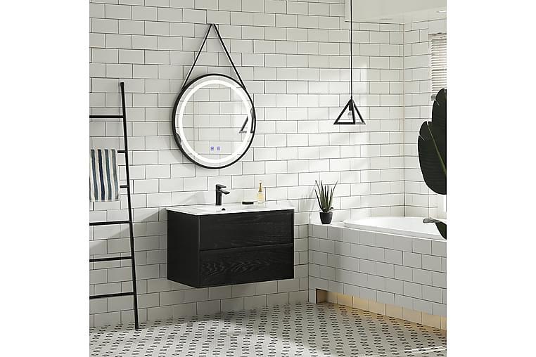 Tvättställsskåp Bathlife Rus  800 Svart ek - Badrum - Badrumsmöbler - Tvättställsskåp & kommod