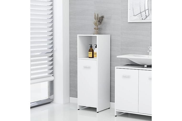 Badrumsskåp vit 30x30x95 cm spånskiva - Vit - Badrum - Badrumsmöbler - Väggskåp & högskåp