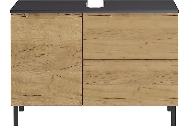 Seine Väggskåp 80x34 cm - Grafit/Natur - Badrum - Badrumsmöbler - Väggskåp & högskåp