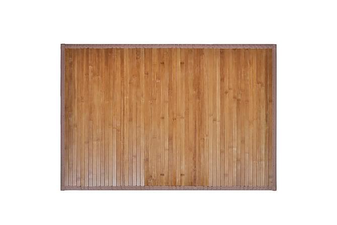 Badrumsmatta i bambu 60 x 90 cm brun - Brun - Badrum - Badrumstextilier - Badrumsmatta