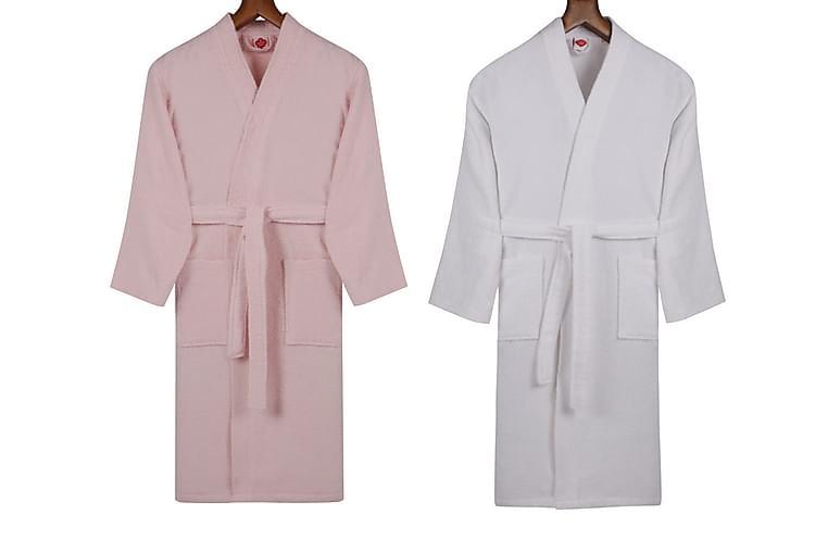 Cotton Box Handduksset Familj Set om 4 - Rosa/Vit - Badrum - Badrumstextilier - Handdukar