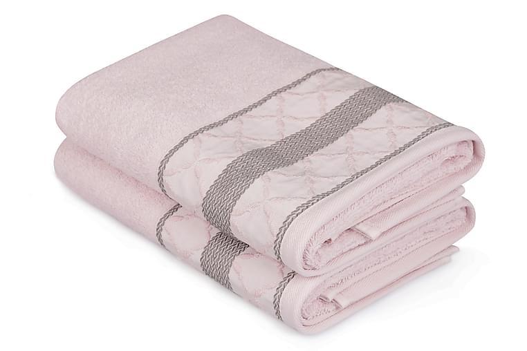 Soft Kiss Handduk 50x90 cm 2-pack - Rosa/Brun - Heminredning - Textilier - Textilier badrum