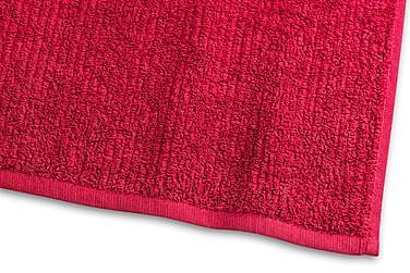Stripe Frotté 30x50 cm Röd