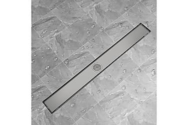 Avlång golvbrunn 1030x140 mm rostfritt stål