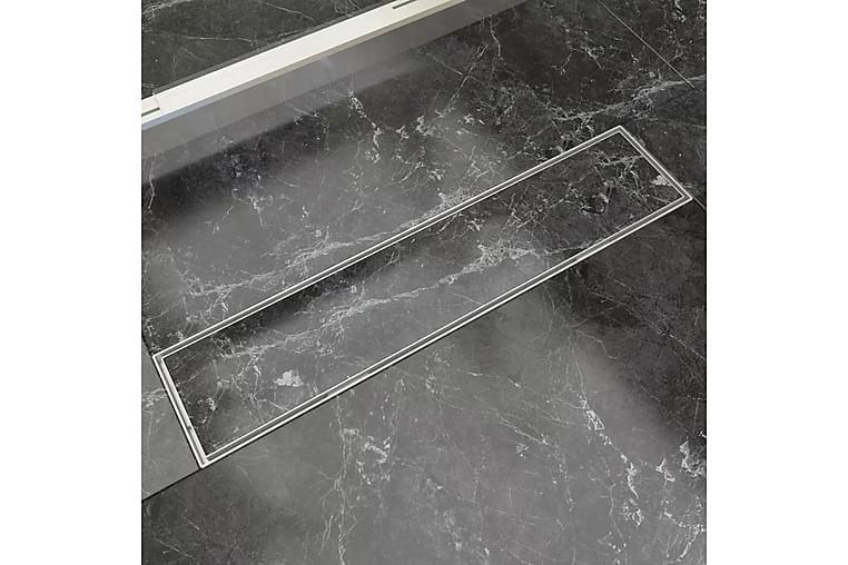 Avlång golvbrunn 530x140 mm rostfritt stål