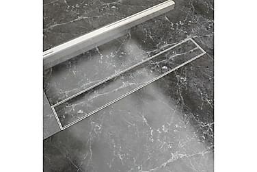 Avlång golvbrunn 730x140 mm rostfritt stål