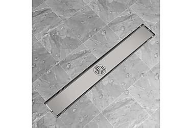 Avlång golvbrunn 830 x 140 mm rostfritt stål
