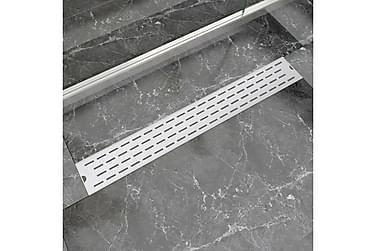 Avlång golvbrunn 830x140 mm rostfritt stål