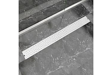 Avlång golvbrunn bubblig 1030x140 mm rostfritt stål