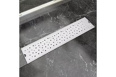 Avlång golvbrunn bubblig 530x140 mm rostfritt stål
