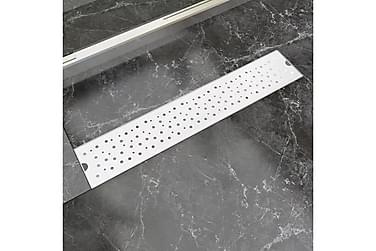 Avlång golvbrunn bubblig 630x140 mm rostfritt stål