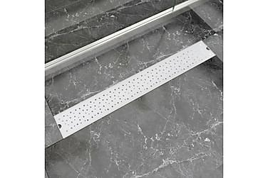 Avlång golvbrunn bubblig 830x140 mm rostfritt stål