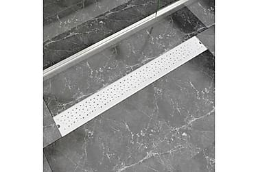 Avlång golvbrunn Bubblor 930x140 mm rostfritt stål