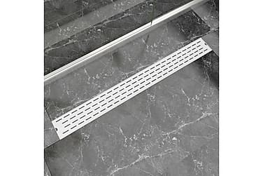 Avlång golvbrunn springdesign 1030x140 mm rostfritt stål