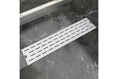 Avlång golvbrunn springdesign 530x140 mm rostfritt stål