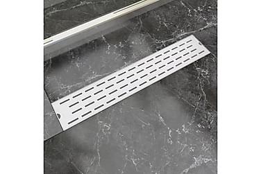 Avlång golvbrunn springdesign 630x140 mm rostfritt stål