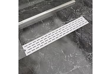 Avlång golvbrunn springdesign 730x140 mm rostfritt stål