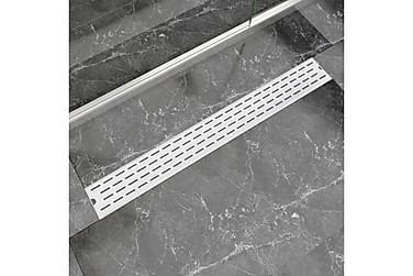 Avlång golvbrunn springdesign 930x140 mm rostfritt stål