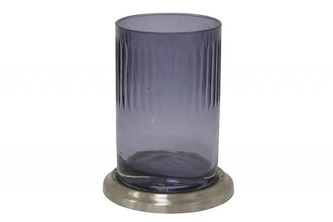 Corina Behållare - Blå/Silver/Glas/Metall - Badrum - Badrumstillbehör - Tandborsthållare & tanborstmugg