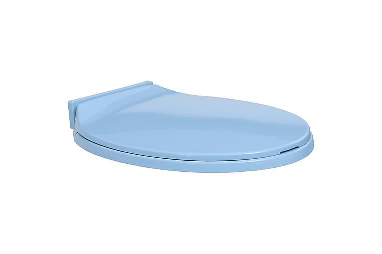 Toalettsits mjuk stängning blå oval - Blå - Badrum - Badrumstillbehör - Toalettsitsar