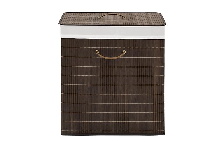 Tvättkorg i bambu rektangulär mörkbrun - Brun - Badrum - Badrumstillbehör - Tvättkorg