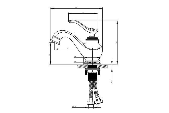 Crespin Tvättställsblandare Brons - Badrum - Blandare & vattenkran - Badkarsblandare