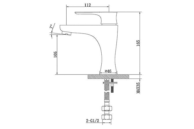 Daabi Tvättställsblandare Vit - Badrum - Blandare & vattenkran - Tvättställsblandare
