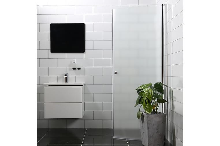 Bathlife Mångsidig Duschdörr 45° Dörr Frostat Glas 1000