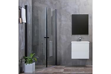 Bathlife Mångsidig Duschhörn Rund Dörr 45° Svart