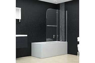 Duschvägg fällbar 2 paneler ESG 95x140 cm