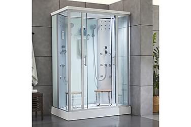Duschkabin för 2 personer med dubbla massagesystem