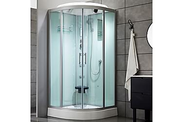 Lyxig duschkabin - massage, belysning, bluetooth