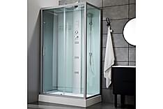 Stor duschkabin med massagesystem