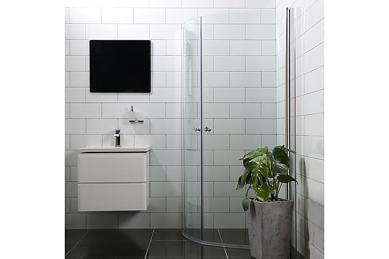 Bathlife Mångsidig Duschhörn Rund Dörr | Rund Dörr - 70x70cm | 45° - Badrum - Duschar - Duschväggar