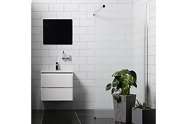 Bathlife Mångsidig Duschvägg Rak Vägg Frostat Glas 1000