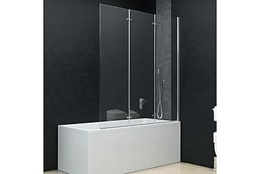Duschvägg fällbar 3 paneler ESG 130x138 cm
