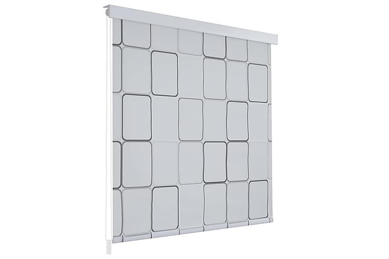 Rullgardin för dusch 160x240 cm fyrkant - Vit - Badrum - Duschtillbehör - Duschdraperi