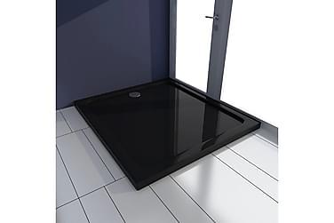 Rektangulärt ABS duschkar 80 x 90 cm svart
