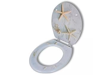 Toalettsits med hård stängning MDF sjöstjärnor