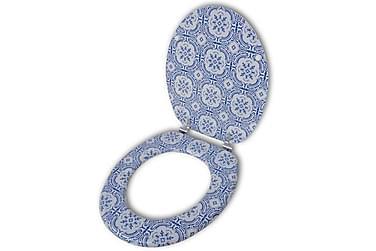 Toalettsits med porslinsmönster MDF