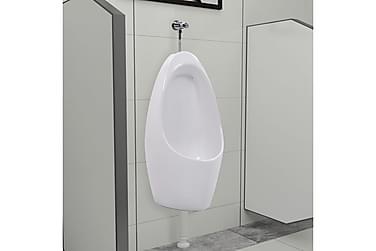 Vägghängd urinoar med spolsystem keramik