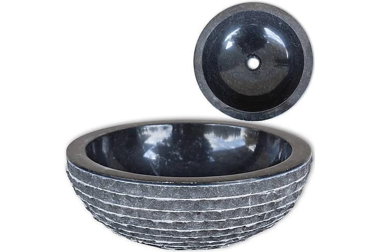 Handfat 40 cm marmor svart - Svart - Badrum - Tvättställ & handfat - Enkelhandfat