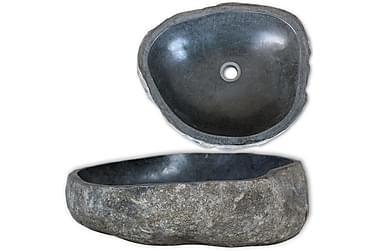 Handfat flodsten oval 30-37 cm