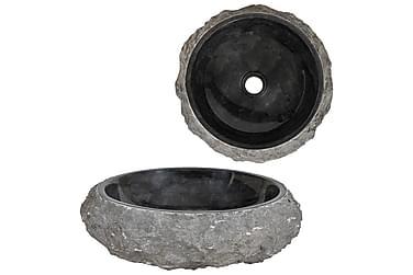 Handfat 40x12 cm marmor svart