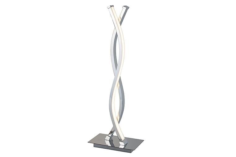 Platt Bordslampa LED Wave Krom